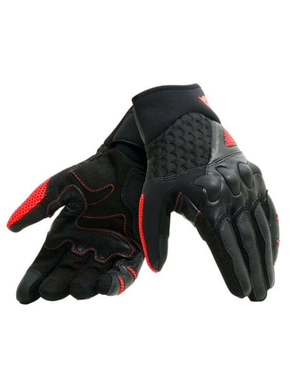 DAINESE Rękawice Skórzane Męskie X-Moto Black/Fluo Red