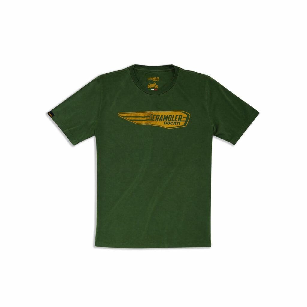 DUCATI Scrambler T-Shirt Męski Wheelie Zielony