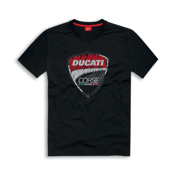 DUCATI T-Shirt Męski Corse Sketch Black