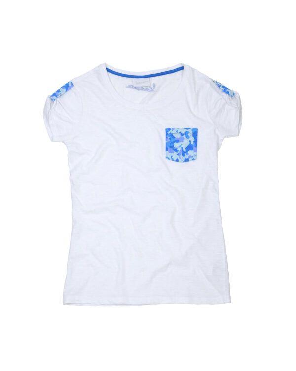 VESPA T-Shirt Damski Camouflage White