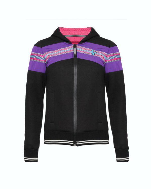 VESPA Bluza Z Kapturem Damska V-Stripes Black